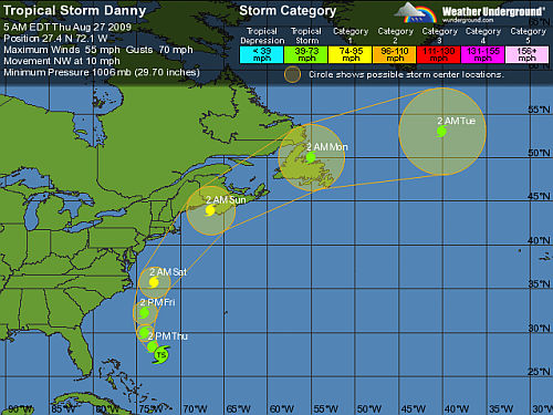 Tropical Storm Danny