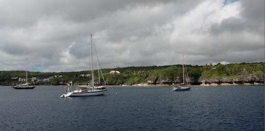 Niue Harbor from Tahina
