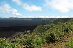 Visiting Sierra Negra volcano crater in the Galapagos